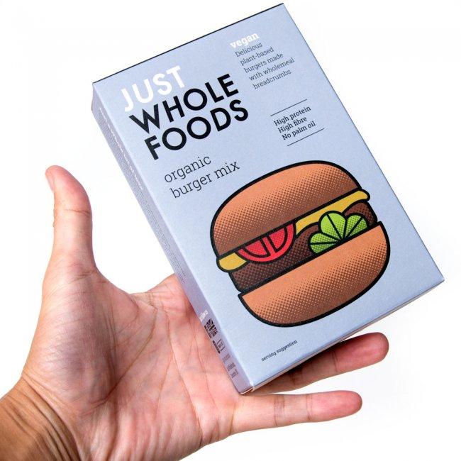 【オーガニック】ベジタリアンバーガーミックス 125g 【Just Wholefoods】 4 - 手に持ってみました。お手頃サイズで量も丁度いいです。