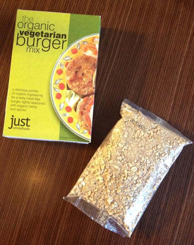 【オーガニック】ベジタリアンバーガーミックス 125g 【Just Wholefoods】 5 - こちらの一袋で約、4〜5枚のパテが作れます。