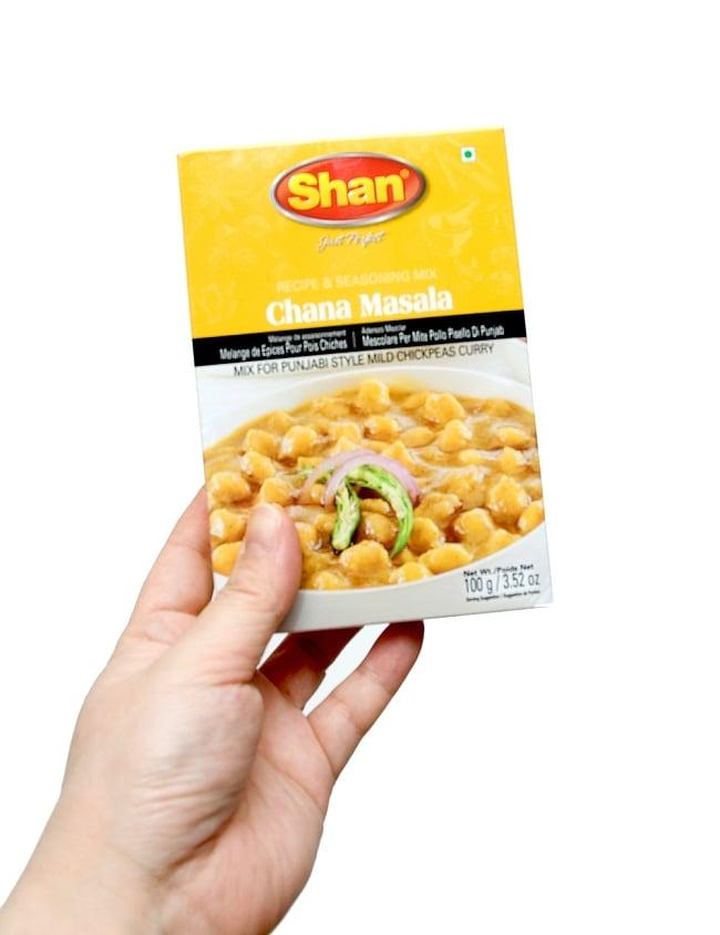 チャナマサラ スパイス ミックス - 100g 【Shan】 2 - 手に取るとこれくらいの大きさです。
