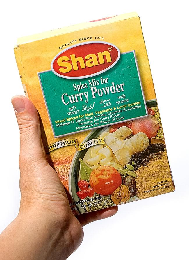 カレーパウダー スパイス ミックス - 200g 【Shan】 2 - 手に取るとこれくらいの大きさです。