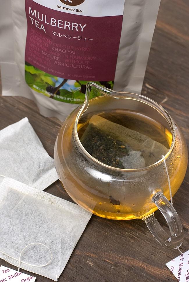 マルベリーティー - 桑の葉茶 【HLJ】の写真2 - マルベリーティーを入れてみました。味はと言うと蚕になった気分です。