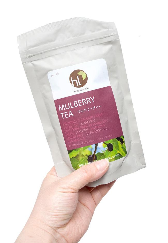マルベリーティー - 桑の葉茶 【HLJ】 4 - 手の持ってみました。おしゃれなパッケージでギフトにも喜ばれそうです。