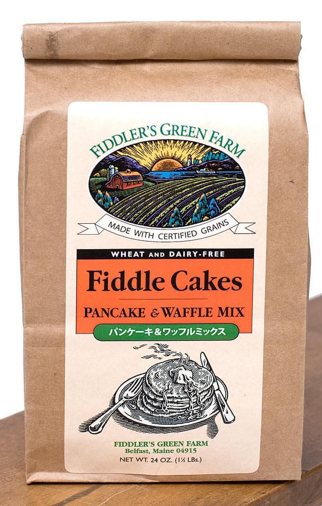 パンケーキ & ワッフル ミックス オーガニック - Fiddle Cakes 【FIDDLERs GREEN FARM】の写真