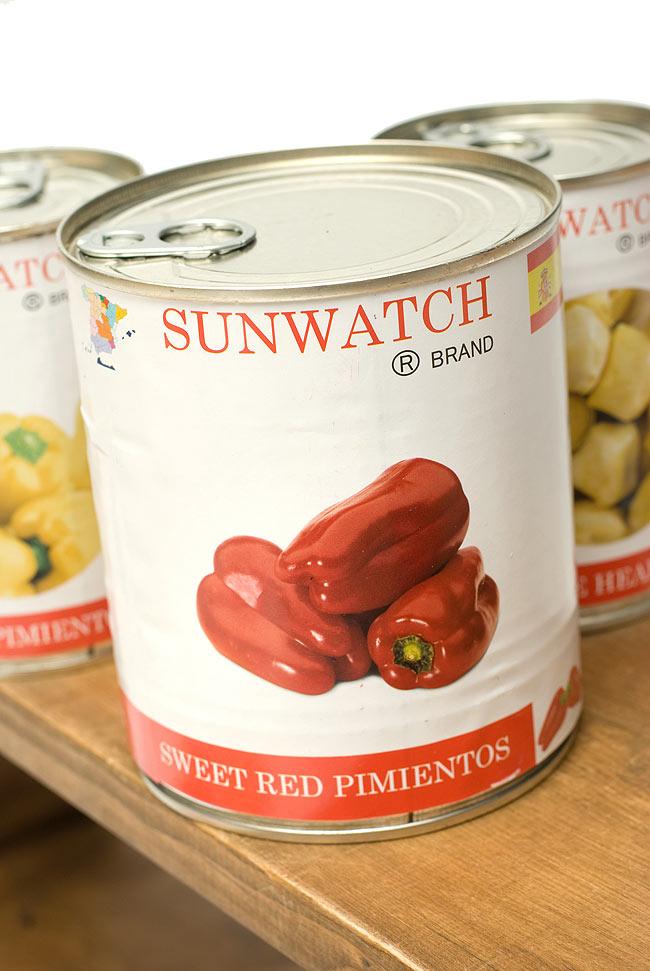 パプリカ ホール 赤 - Whole Red Pimentos 780g 【SUN WATCH】の写真2 - パプリカの缶詰ってめづらしいでしょう?たくさん食べたい、レストラン様等にいかがでしょうか?