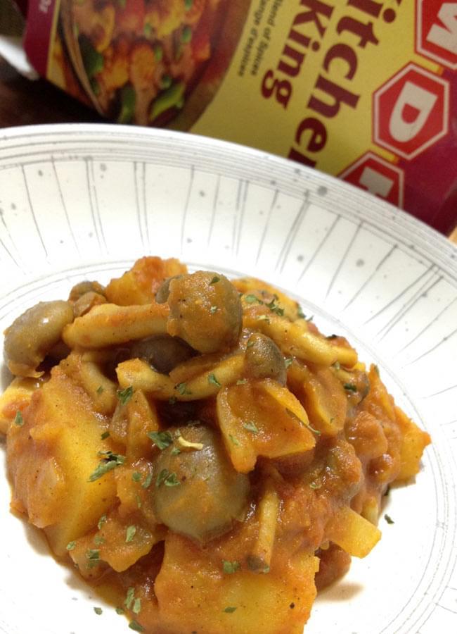 キッチンキング  スパイス ミックス - 100g 小サイズ 【MDH】 - カレーを作ってみました。色々な野菜を入れていかがですか?