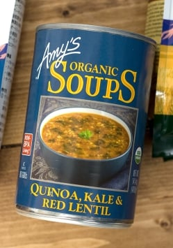 ローファット キヌア ケール レンティル スープ 缶詰 - Quinoa Kale Lentil Soup 【Amy's Kitchen】