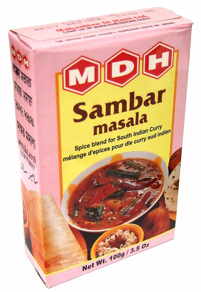 サンバル マサラ  スパイス ミックス - 100g 小サイズ 【MDH】 2 - こちらのパッケージのお届けになる場合がございます。