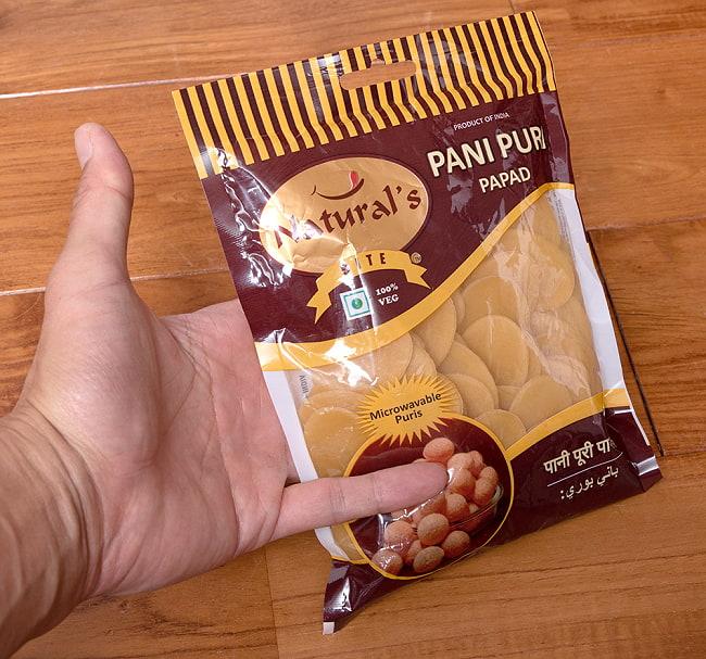 パニプリ・パパド - Pani Puri Papad 2 - パッケージのアップです