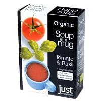 トマト&バジル オーガニック インスタントスープ Soup in a Mug Carrot & Coriander 【Just Wholefoods】