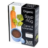 キャロット&コリアンダー オーガニック インスタントスープ Soup in a Mug Tomato & Basil  【Just Wholefoods】