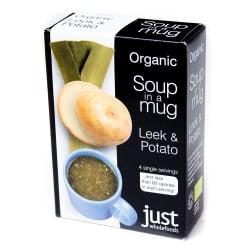 リーキ&ポテト オーガニック インスタントスープ Soup in a Mug Leek & Potato  【Just Wholefoods】