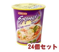 【24個セット】インスタント ヌードル トムヤム味 カップ 付き 【MAMEE】