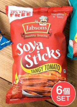 【6個セット】マサラ ソイ スティック タンギー トマト味 - Soya Sticks Tangy Tomato 180g 【Jobsons】