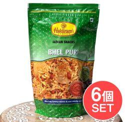 【6個セット】インドのお菓子 マサラぽん菓子 ベルプリ - Bhel Puri