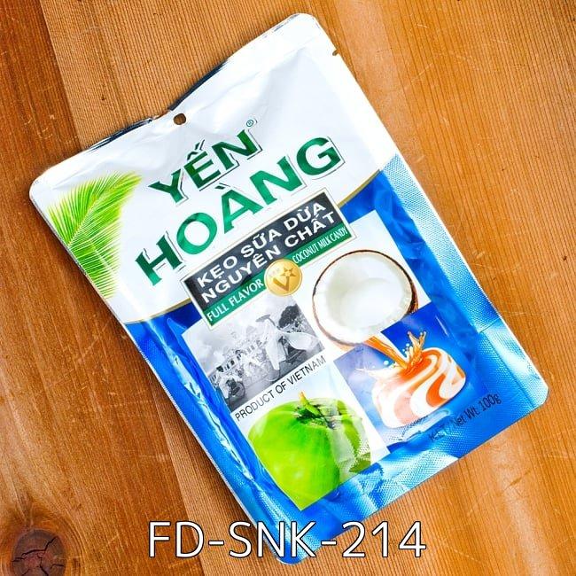 【6個セット】ココナッツミルクキャンディ YEN HOANG  2 - ココナッツミルクキャンディ YEN HOANG (FD-SNK-214)の写真です