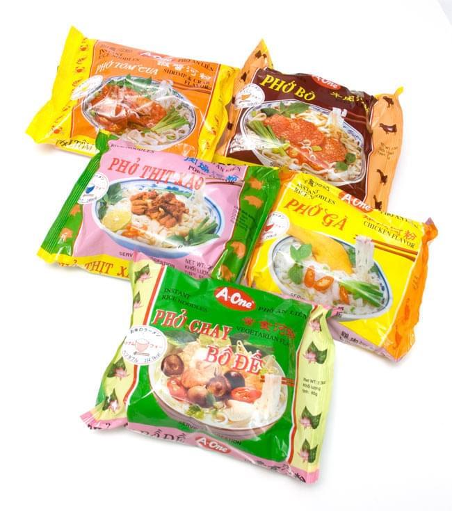 ベトナム フォー 【A-One】 インスタント 麺(袋) 5個セット 2 - ベトナム・フォー (袋) 【A-One】 ビーフ味の写真です