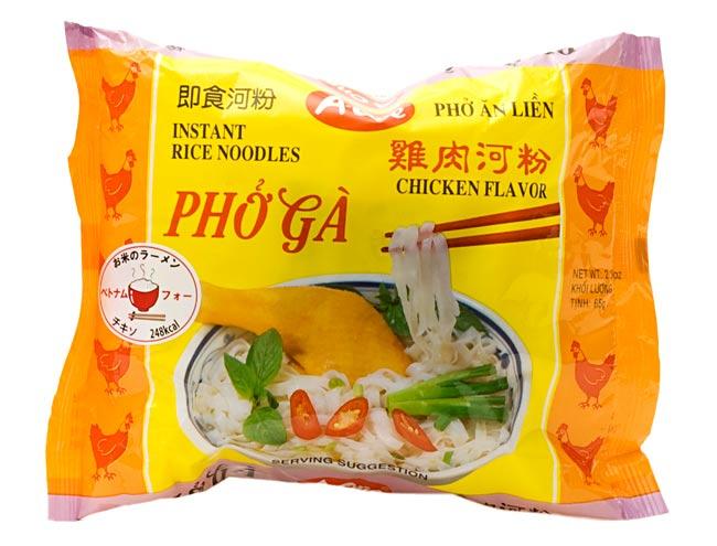 ベトナム フォー 【A-One】 インスタント 麺(袋) 5個セットの写真3 - ベトナム・フォー (袋) 【A-One】 チキン味の写真です