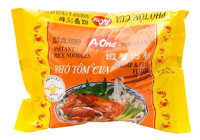 ベトナム フォー 【A-One】 インスタント 麺(袋) 5個セットの写真5 - ベトナム・フォー (袋) 【A-One】 エビとカニ味の写真です