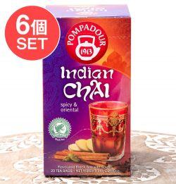 【6個セット】インディアン チャイ クラシック ティーバック 【20パック】 【Pompadour】