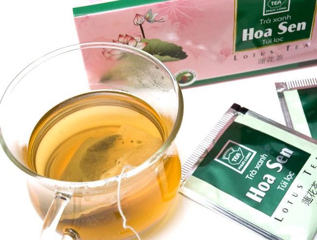 蓮茶 (蓮花茶) ティーバッグ 25袋入 【PHUC LONG】の写真3 - 蓮の香りが高く、しっかりした味です。
