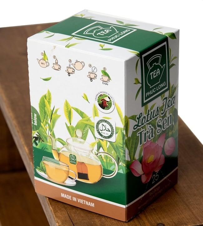 蓮茶 (蓮花茶) ティーバッグ 25袋入 【PHUC LONG】 4 - パッケージを別の角度から