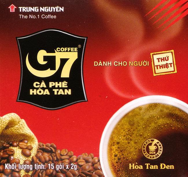 ベトナム インスタント コーヒー - G7 ブラック  15パック 【TRUNG NGUYEN】の写真
