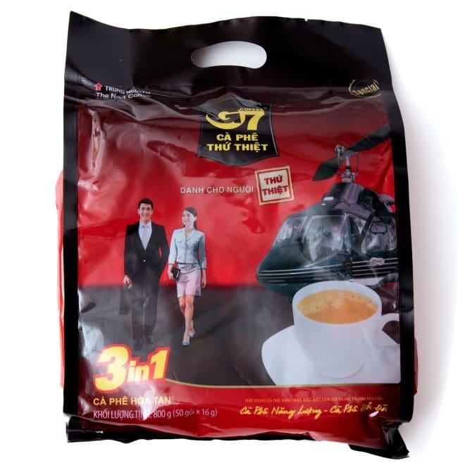 ベトナムインスタントコーヒー G7 コーヒー ミックス 3in1 20パック 【TRUNG NGUYEN】の写真