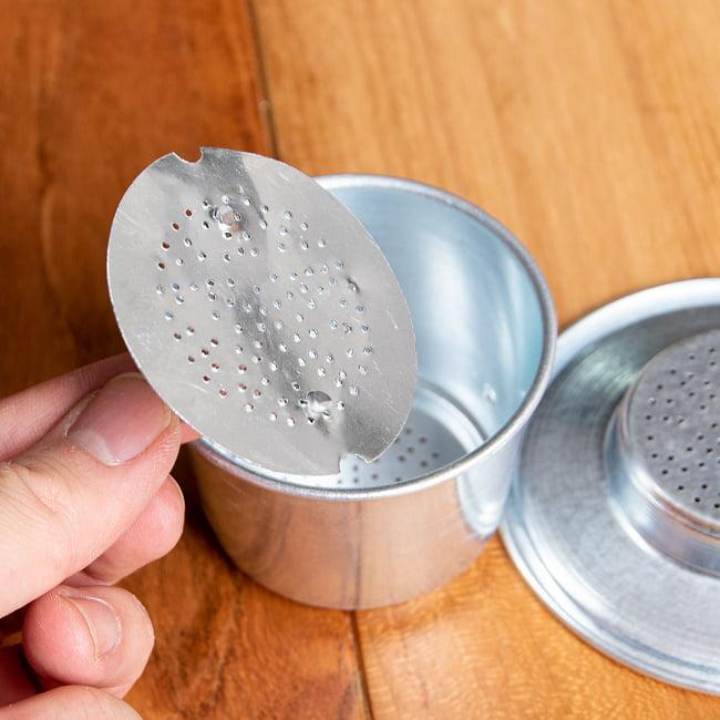 ベトナム コーヒー フィルター 【アルミ製】 11 - 内蓋の拡大写真です