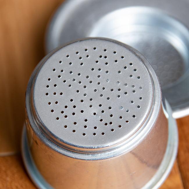 ベトナム コーヒー フィルター 【アルミ製】 8 - 底には穴が空いています