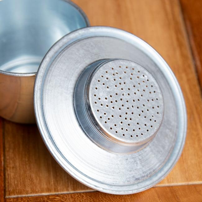 ベトナム コーヒー フィルター 【アルミ製】 9 - 下皿にも穴が空いています