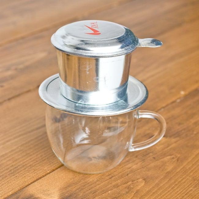 ベトナム コーヒー フィルター 【アルミ製】 2 - ベトナム式は、コップの上に直接乗せてドリップします。
