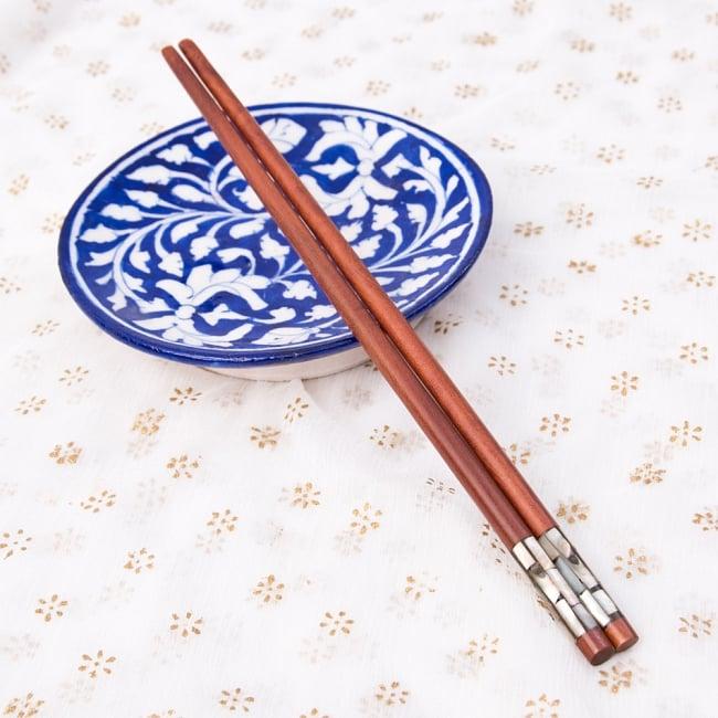 アジアの箸[黒蝶貝ミックス] 5 - アタカゴと一緒に
