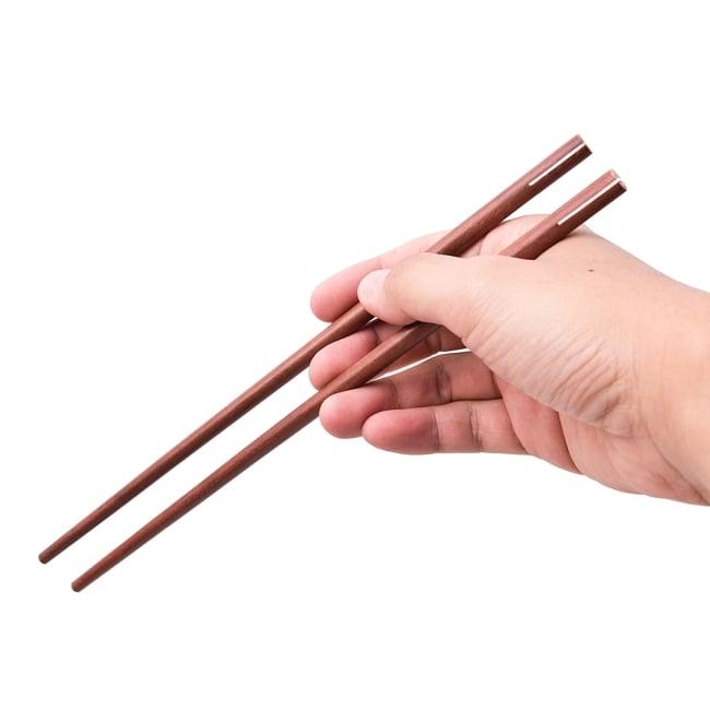 アジアの箸 4 - 頭の部分を拡大してみました