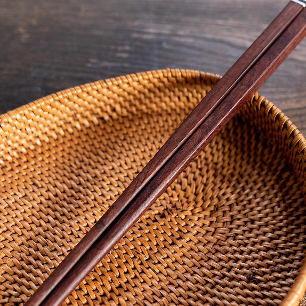 アジアの箸[白蝶貝] 4 - 日本でも馴染みのあるサイズ感です