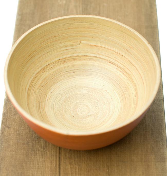 ベトナムの竹食器 - お椀 橙(直径12cm程度) 2 - 真上から見てみました。