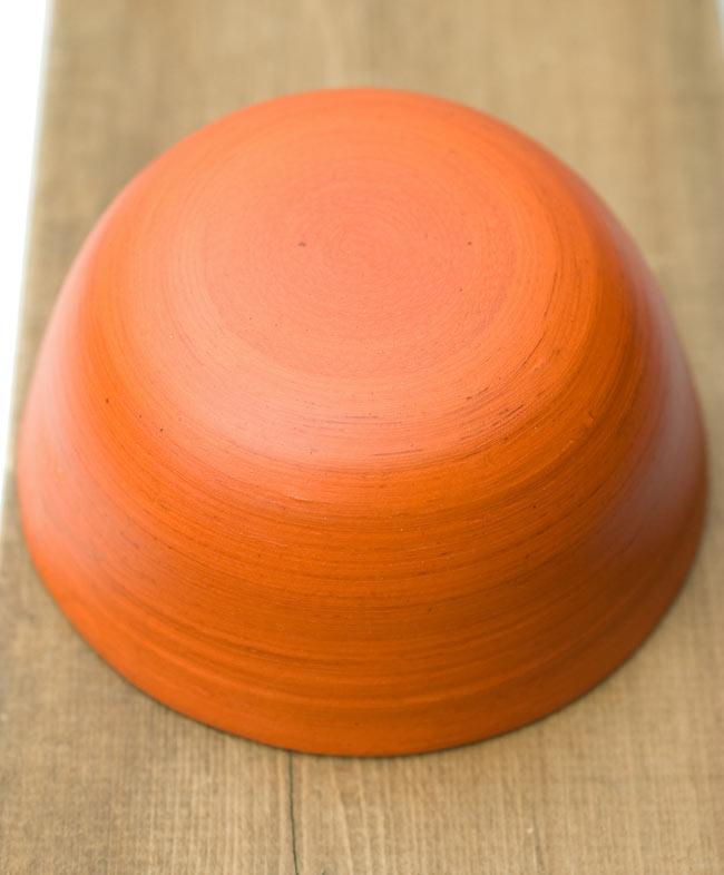 ベトナムの竹食器 - お椀 橙(直径12cm程度) 3 - 裏面はこのようになっています。