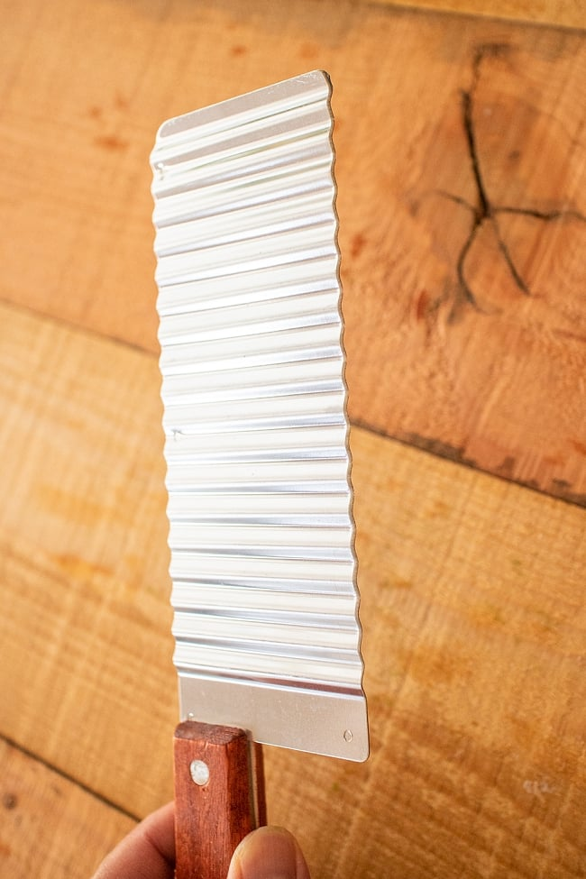 ベトナムのジグザグスライサー 26.5cmの写真7 - 刃渡りはこのようになっています。