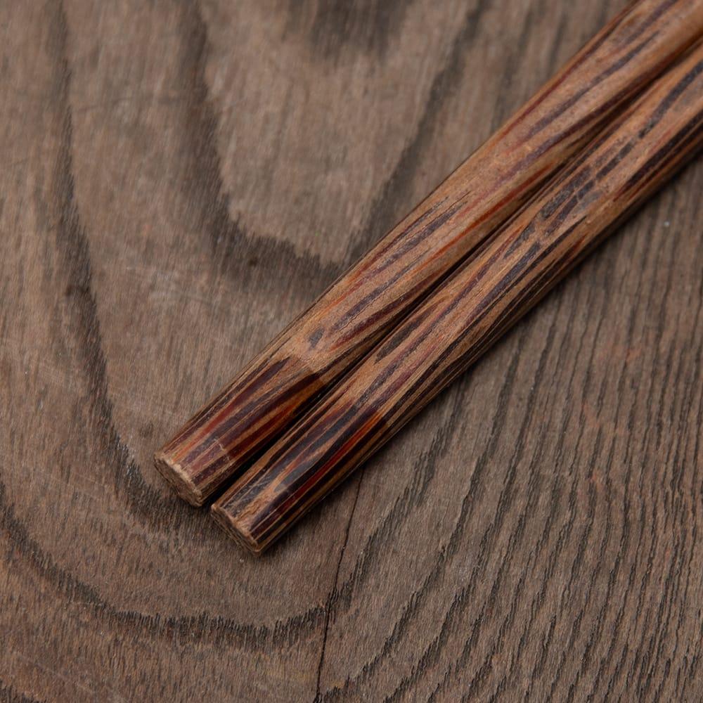 ベトナムのココナッツ菜箸 7 - 両端をセロテープで留めた跡が残っています…