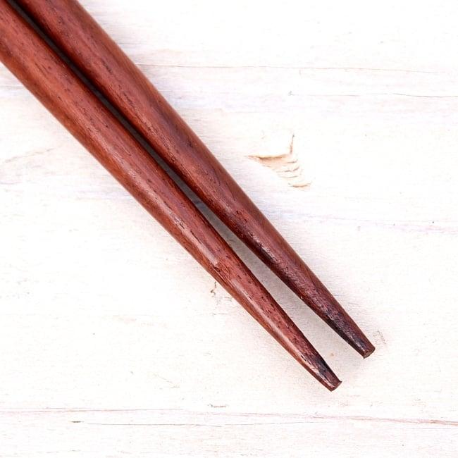 アジアの箸[黒蝶貝ミックス] 3 - 先っぽの部分の拡大です