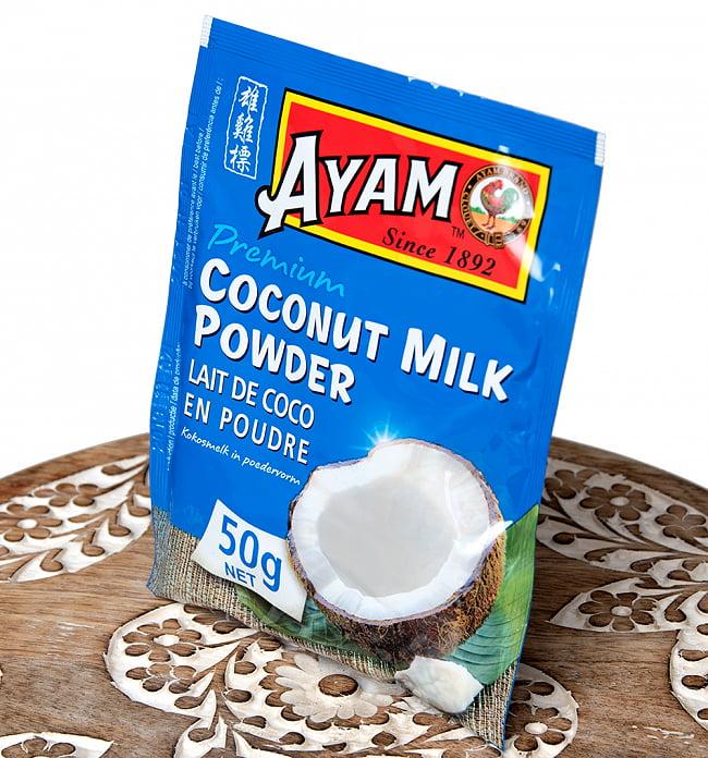 ココナッツミルク パウダー 50g - Coconut Milk Powder【AYAM】 2 - 斜めから撮影しました