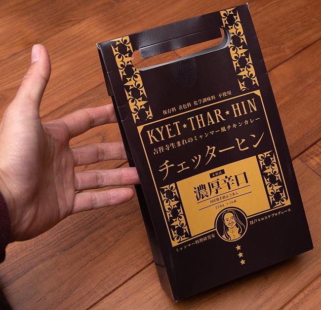 【濃厚辛口】ミャンマーチキンカレー チェッターヒン - Kyet Thar Hin 6 - サイズ比較のために手に持ってみました!