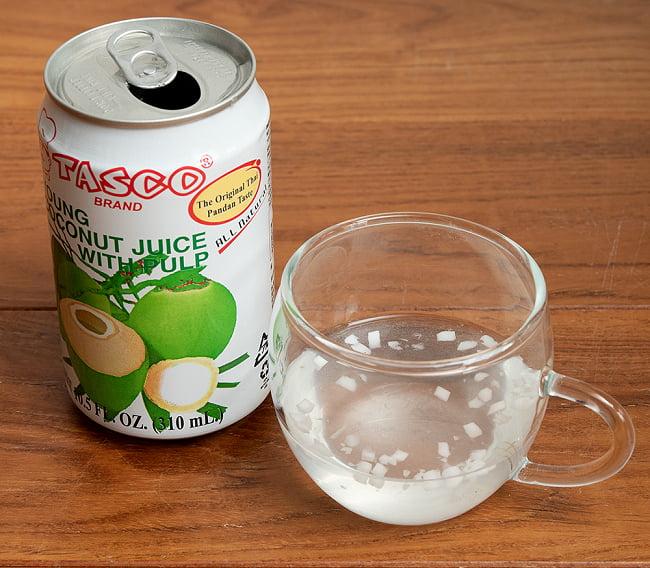 ココナッツジュース - YOUNG COCONUT JUICE WITH PULP[350ml] 6 - 中を開けてみました