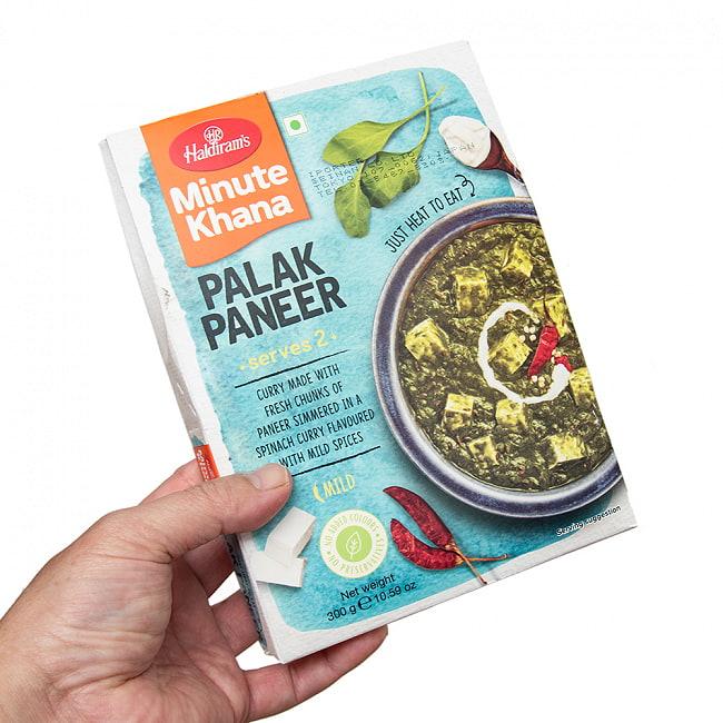 【Haldiram's PALAK PANEER 300g】インド ほうれん草とパニールのカレー パラク パニール 3 - 概ね二人分を想定されています。