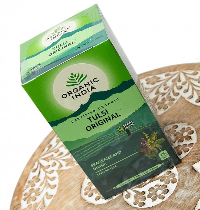 有機トゥルシーティ Tulsi Original  (25包) 【Organic India】 3 - 斜めから撮影しました