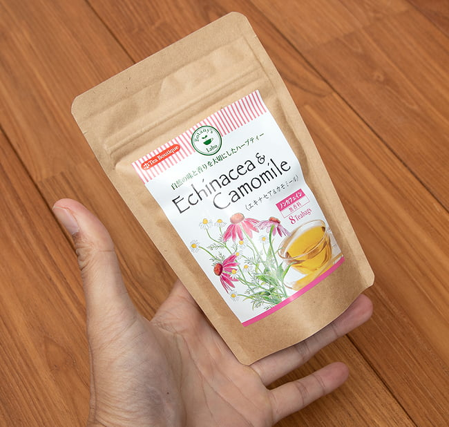 エキナセア&カモミール - Echinacea & Camomile - ハーブティー【Tea Boutique】 5 - サイズ比較のために手に持ってみました