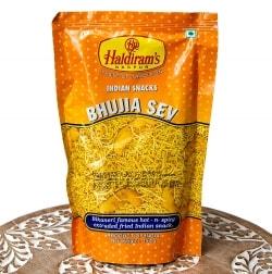 インドのお菓子 ひよこ豆粉で作ったヌードルスナック - ブジア セヴ - Bhujia Sev