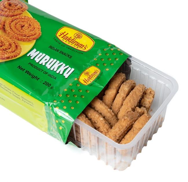 インドのスパイシークッキー ムルク - Murukku  4 - 中を開けたところです。