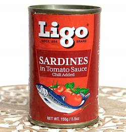 サーディン - いわしのトマト煮 チリ味 - SARDINES in Tomato Souce Chilli Added[155g]の商品写真