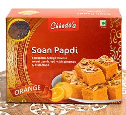 インドのお菓子  ソーン パブディ オレンジ味 - SOAN PAPDI ORANGE[Cheeda