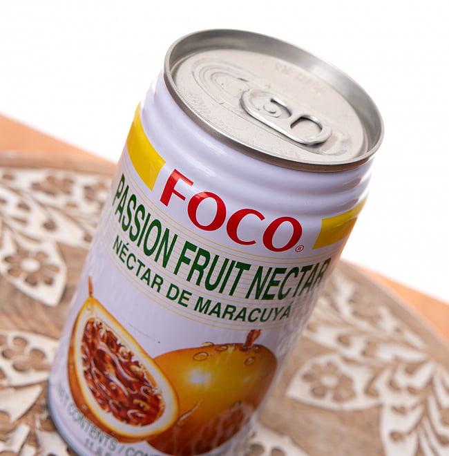FOCO パッションフルーツジュース 350ml缶 2 - 開けやすいプルトップ式です
